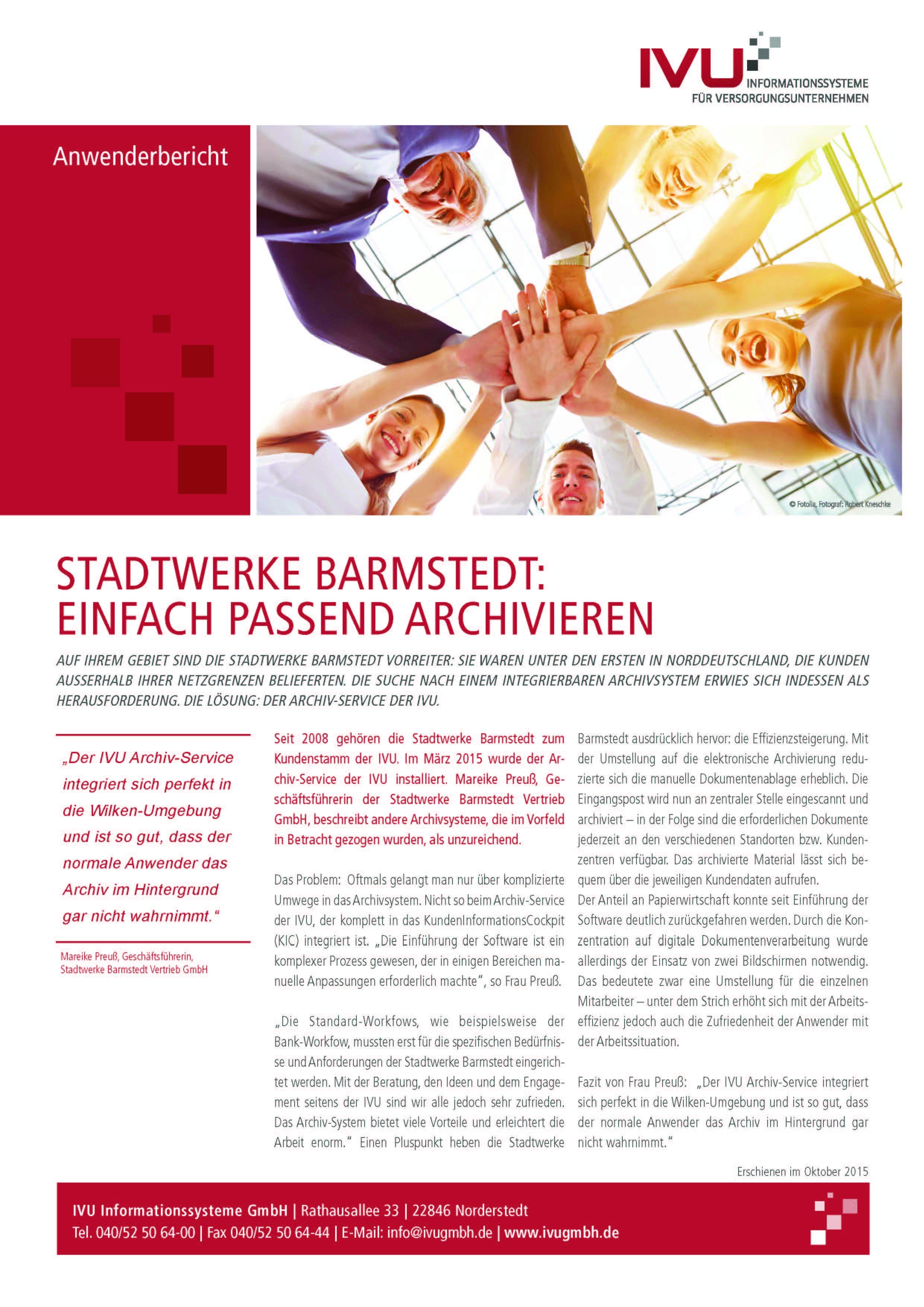 IVU.ArchivService bei den Stadtwerken Barmstedt