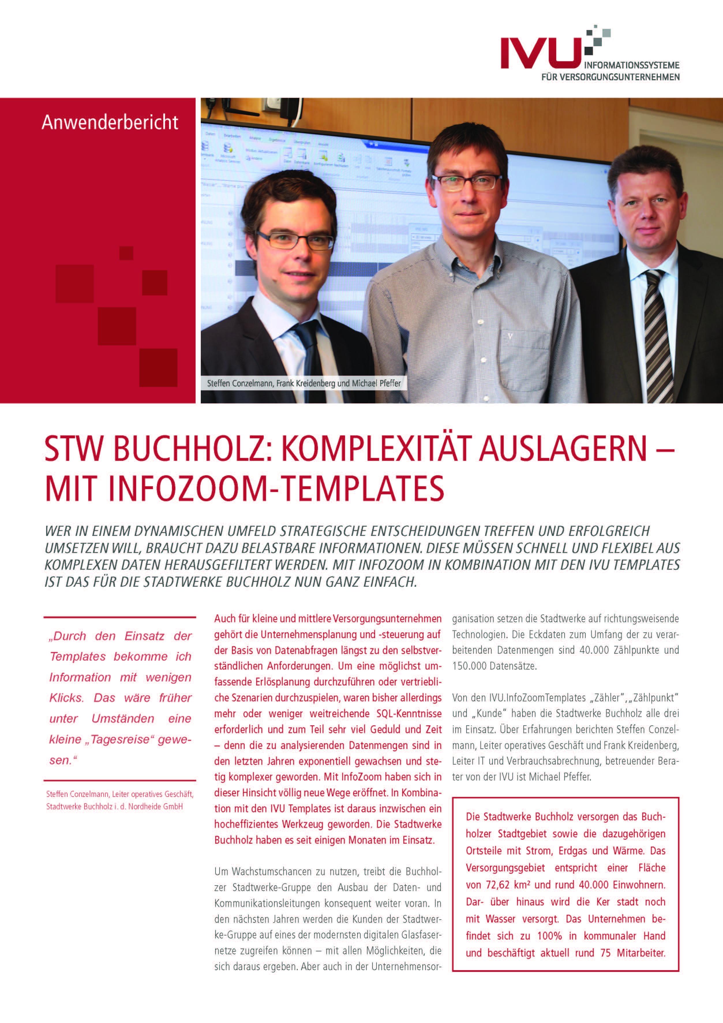 IVU.InfoZoom-Templates bei den Stadtwerken Buchholz