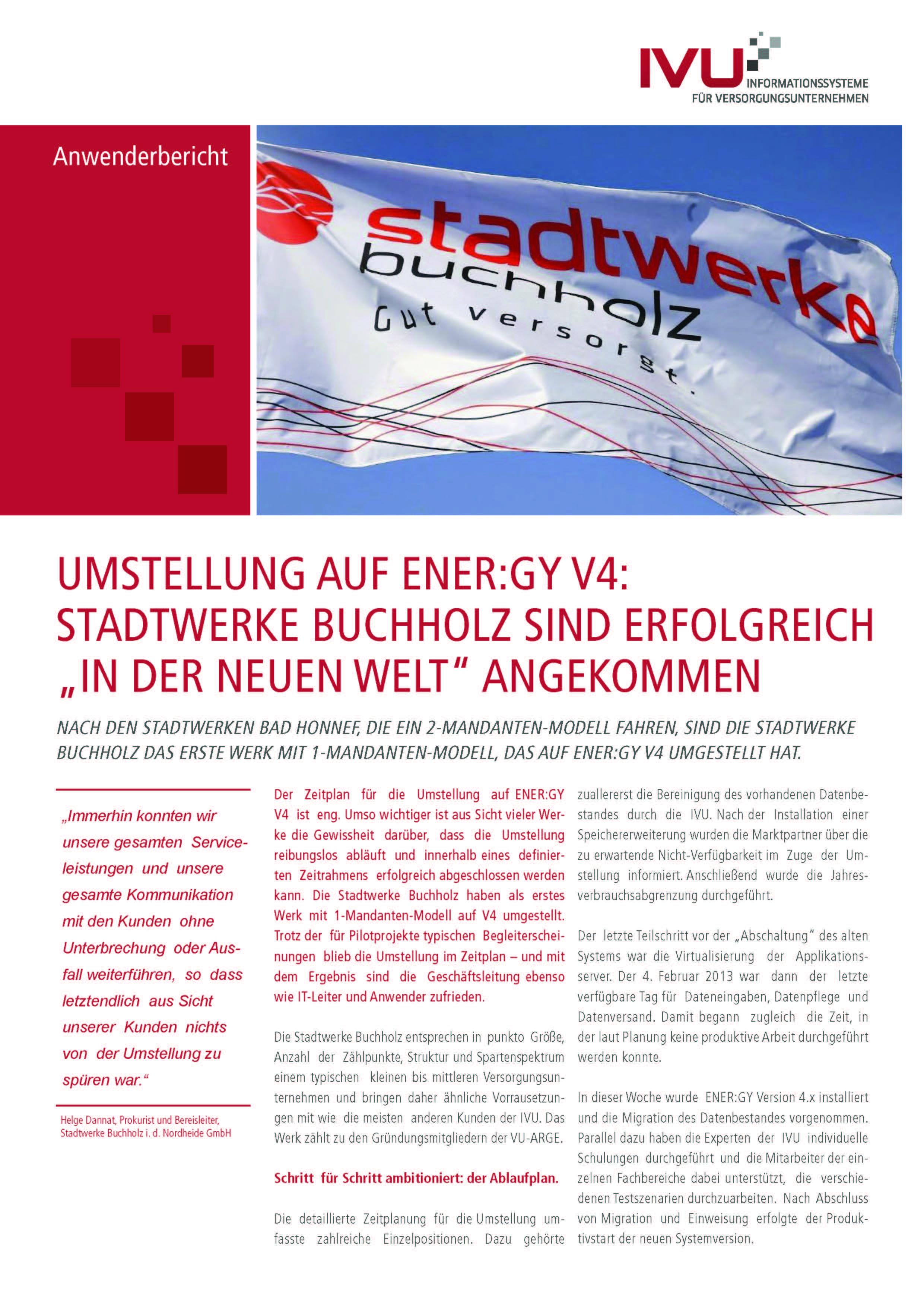 Anwenderbericht Stadtwerke Buchholz ENER:GY V4