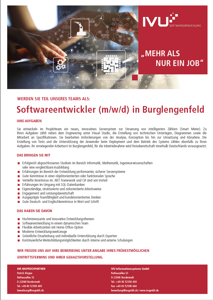 IVU Softwareentwickler