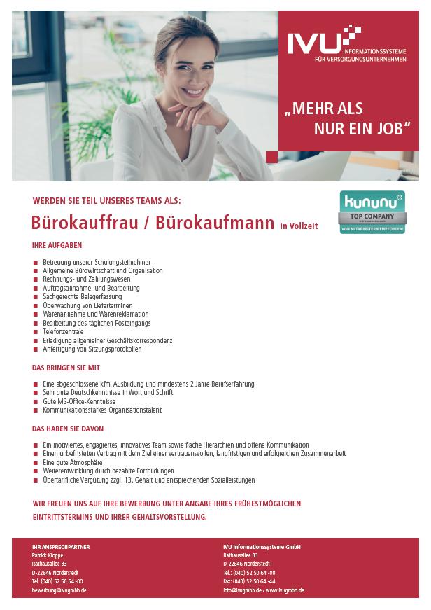 Bürokauffrau / Bürokaufmann