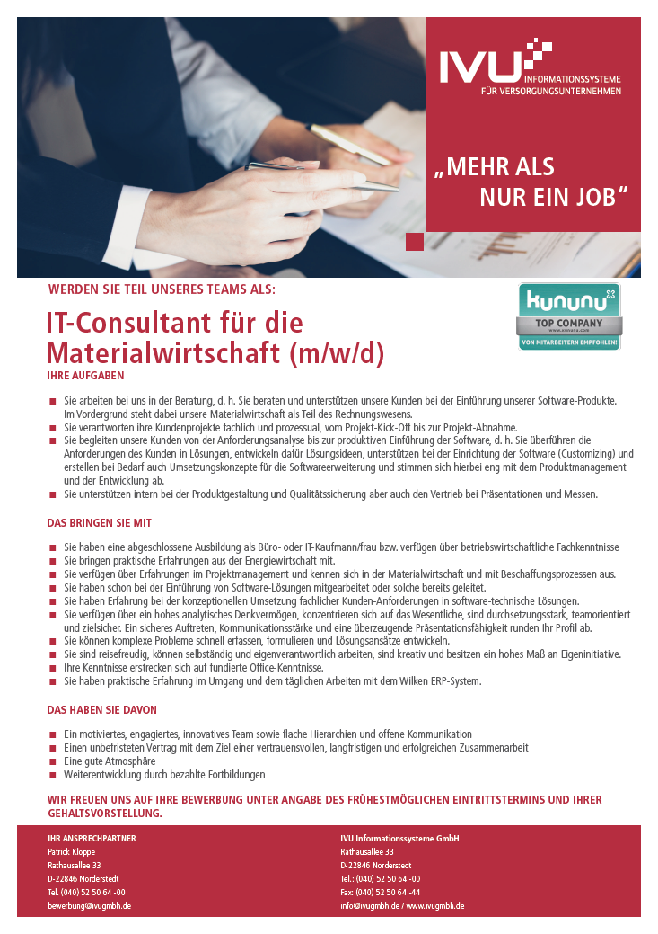 IT-Consultant Materialwirtschaft